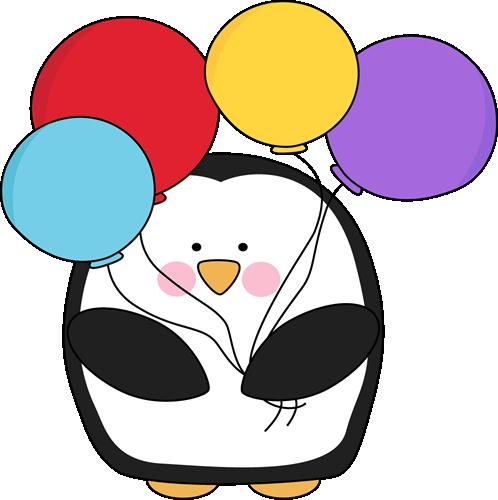 Balloon clipart cute. Clip art images penguin