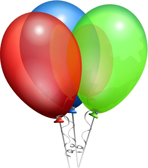 Balloon clipart design. Party helium balloons clip