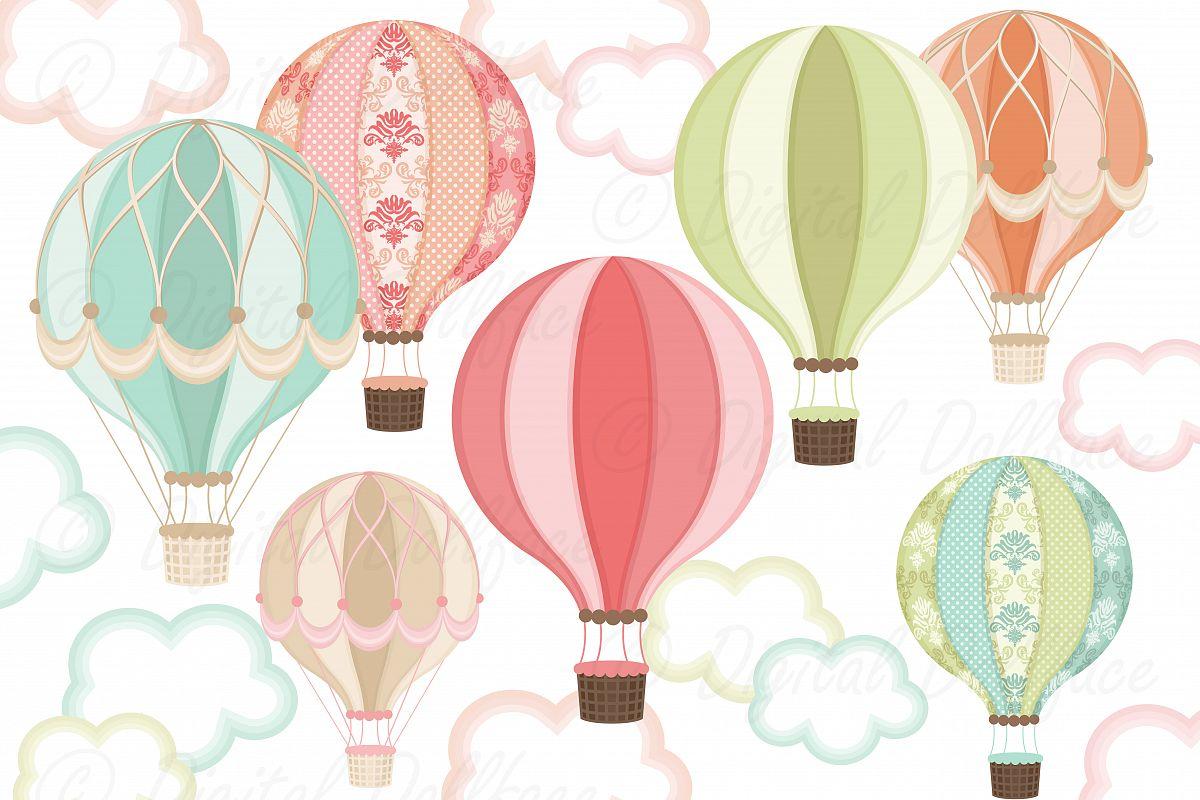 Balloon clipart fancy. Hot air by digital