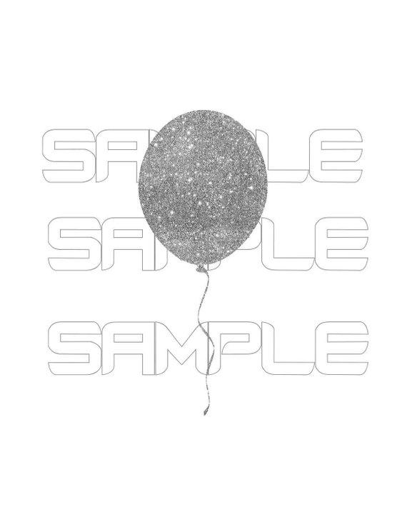 Clipart balloon glitter. Digital sparkly glittery balloons