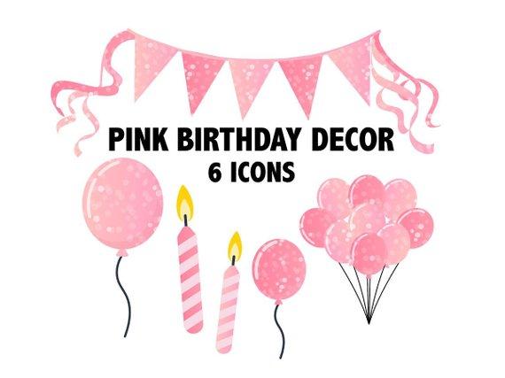 Clipart balloon glitter. Pink birthday printable sparkly