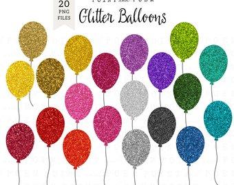 Balloons tassels clip art. Balloon clipart glitter