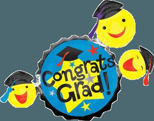 Shop giant smiley faces. Balloons clipart graduation