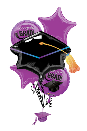 Balloon bouquets purple bouquet. Balloons clipart graduation