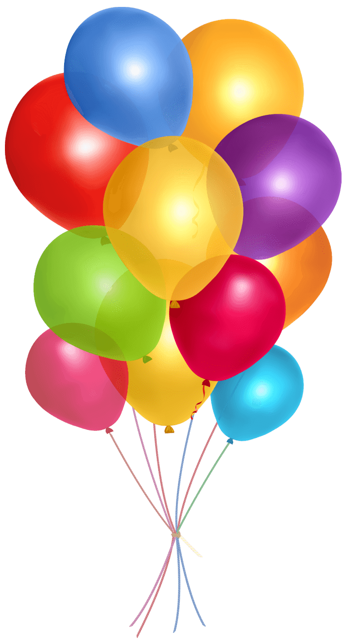 Simple Group Balloons transparent PNG