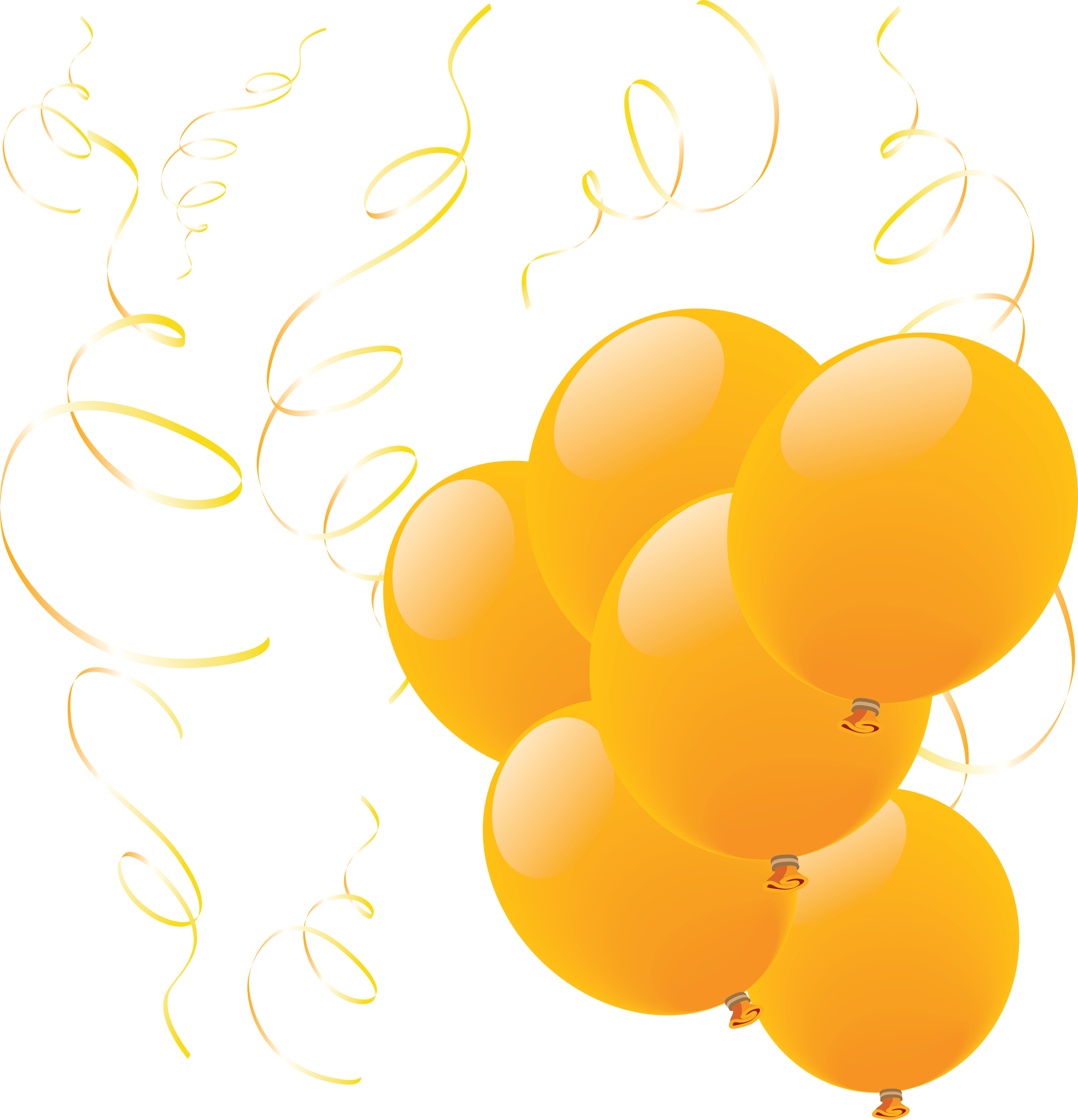 Yellow group transparent png. Clipart balloon orange