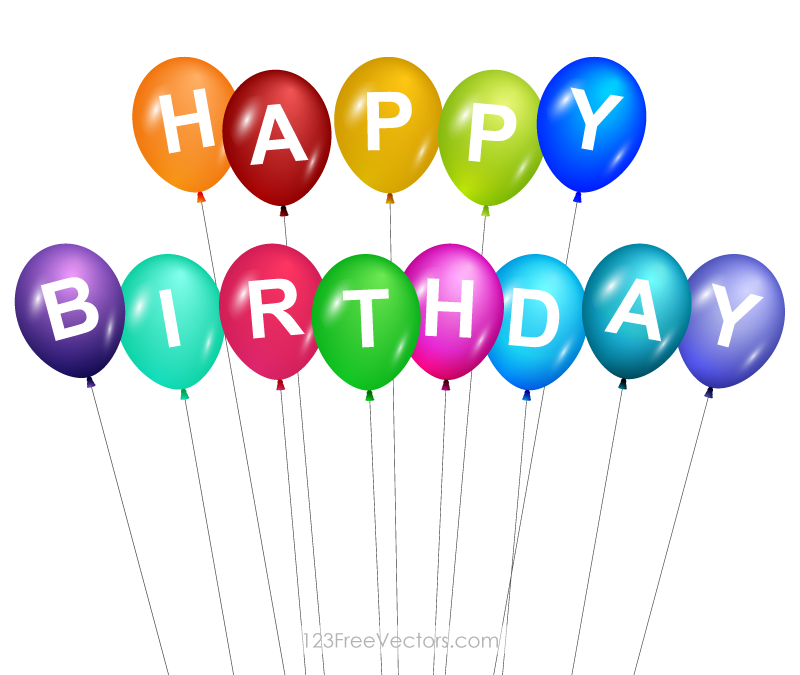 Balloon clipart happy birthday. Free balloons cliparts download