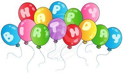 Clip art balloons . Balloon clipart happy birthday