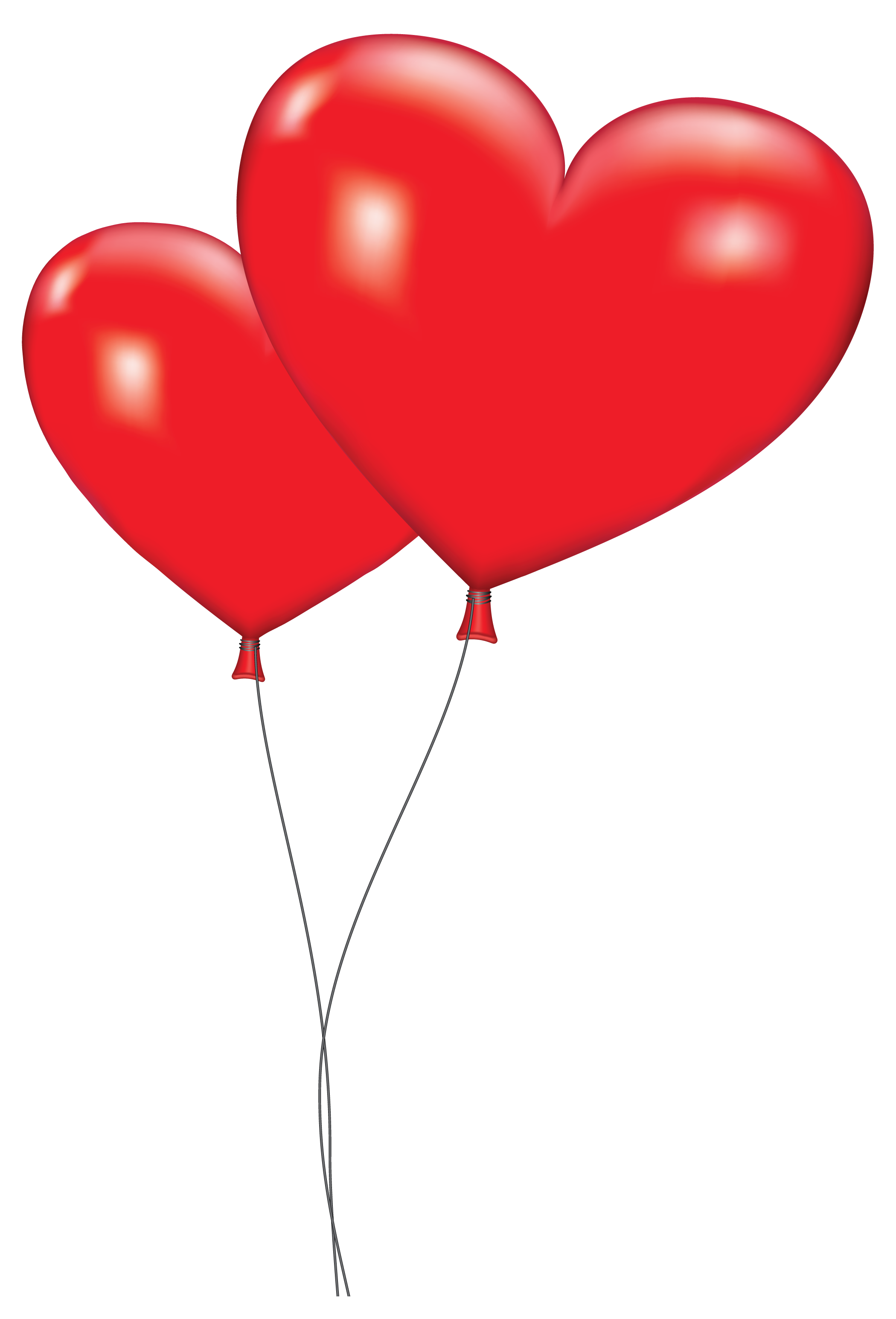 Orange large red heart. Hearts clipart hot air balloon