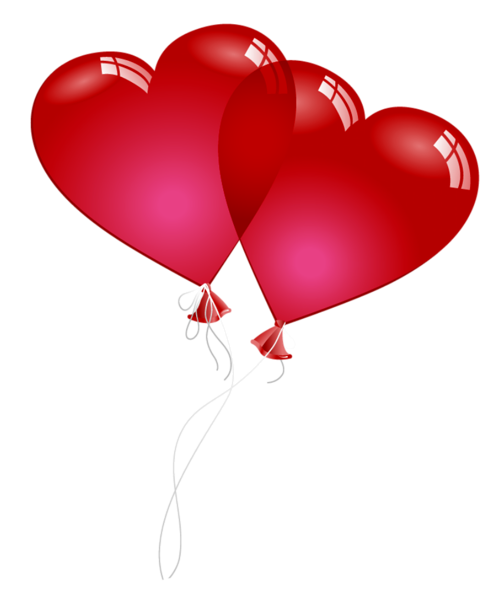 Red valentine baloons png. Ballon clipart heart