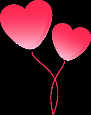 Pink balloon . Ballon clipart heart