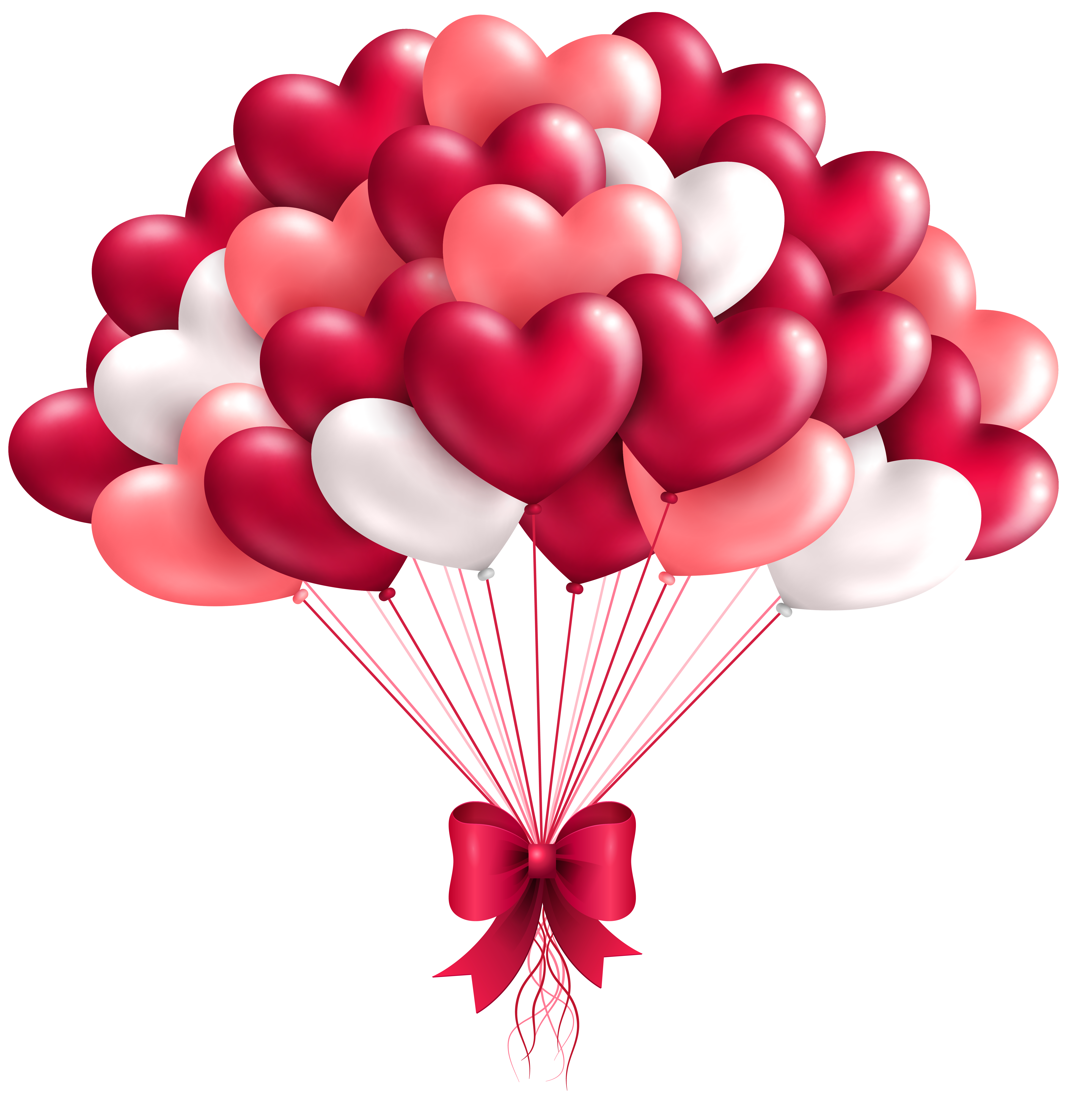 Beautiful balloons png image. Clipart birthday heart