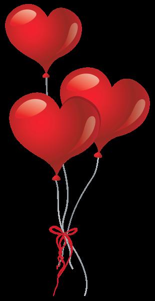 Balloons png picture pinterest. Ballon clipart heart