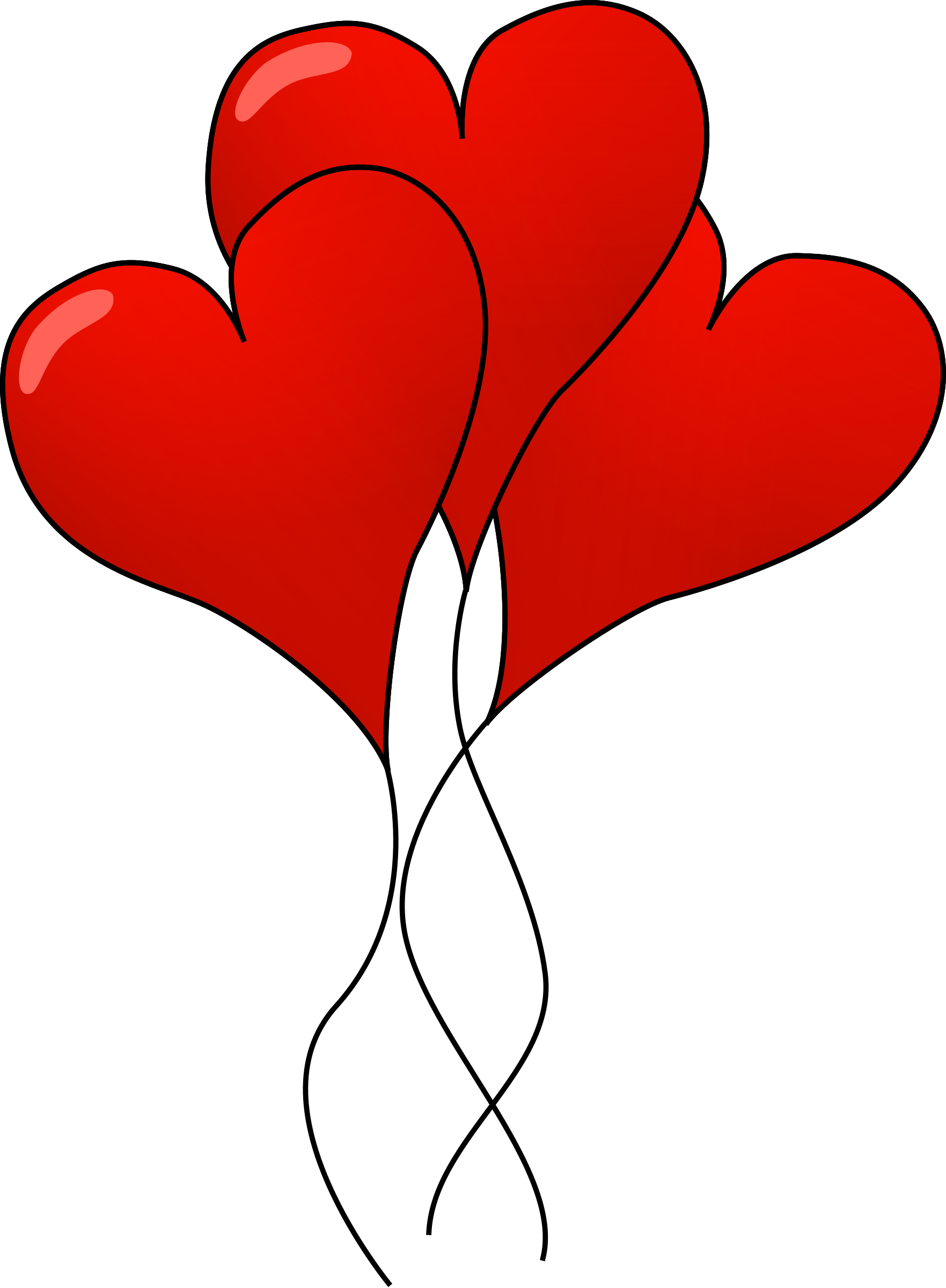 Heart balloons big image. Clipart hearts plant