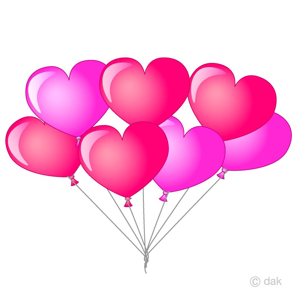 Bunch of balloons free. Ballon clipart heart