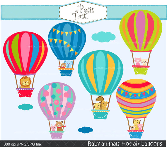 Baby clipart hot air balloon. On sale clip art