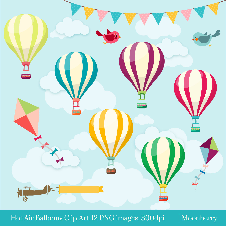 Balloons clipart design. Hot air clip art