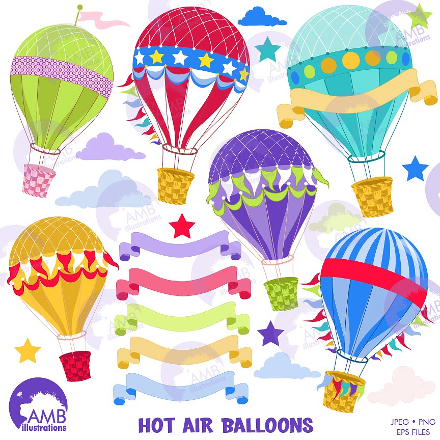 Hot air illustrations creative. Balloon clipart classy