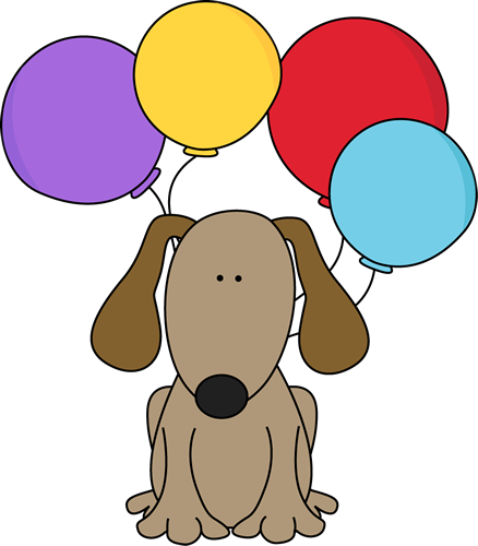 Balloon clip art images. Clipart puppy free birthday