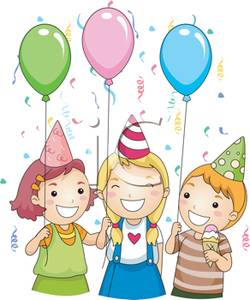 Children with balloons and. Cash clipart kid