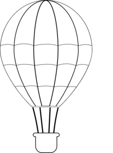 Hot air drawing at. Balloon clipart line