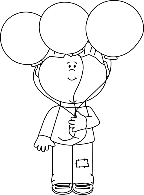 Clip art black and. Balloon clipart line