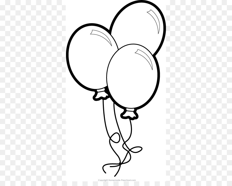 Black and white clip. Balloon clipart line