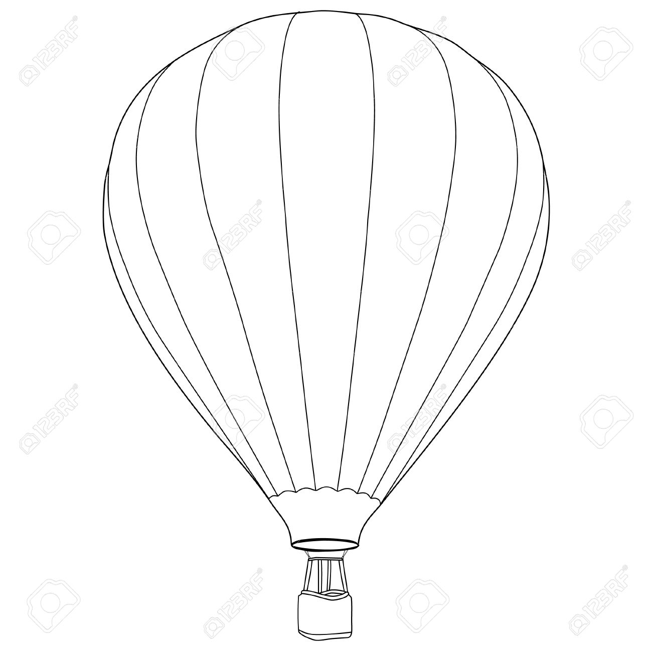 Drawing of balloons at. Balloon clipart line
