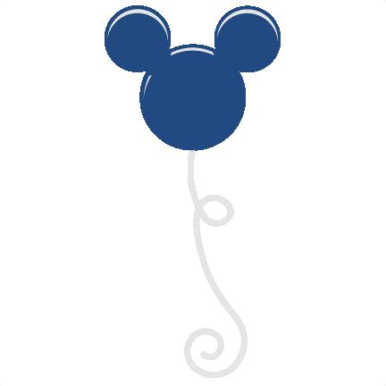 Ballon clipart mickey mouse. Balloon svg scrapbook file
