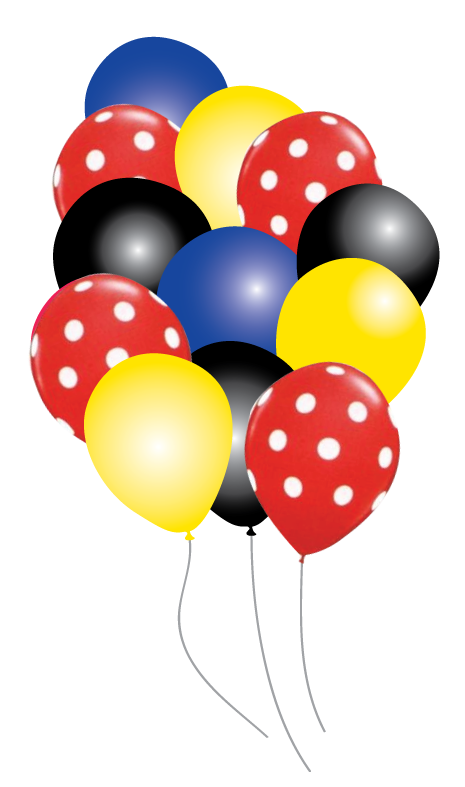 Balloons party pack just. Ballon clipart mickey mouse