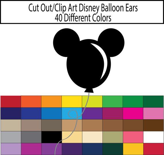 Clip art scrapbook ears. Ballon clipart mickey mouse