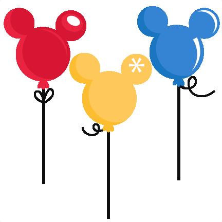 Ballon clipart mickey mouse. Balloons svg cut files