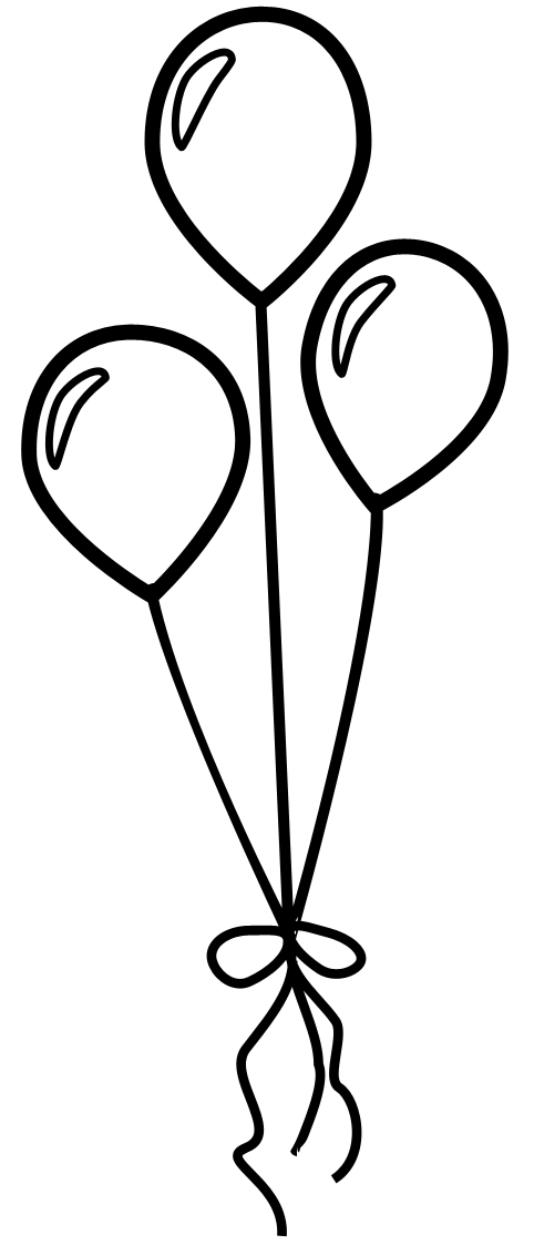 Free download clip art. Balloon clipart outline