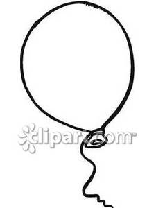 Balloon clipart outline. Of a royalty free