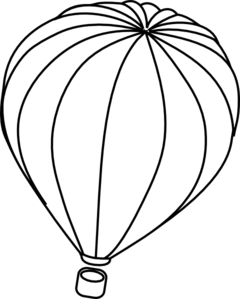Balloon clipart outline. Hot air clip art