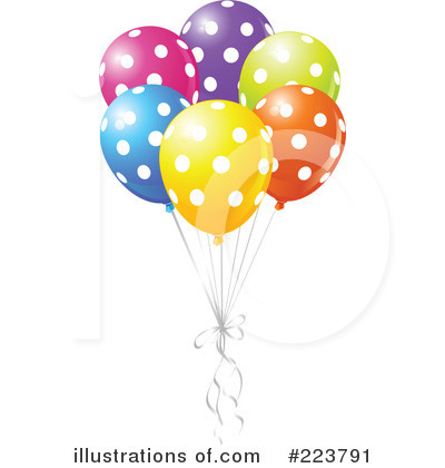 Party Balloons Clipart #223791 - Illustration by Pushkin