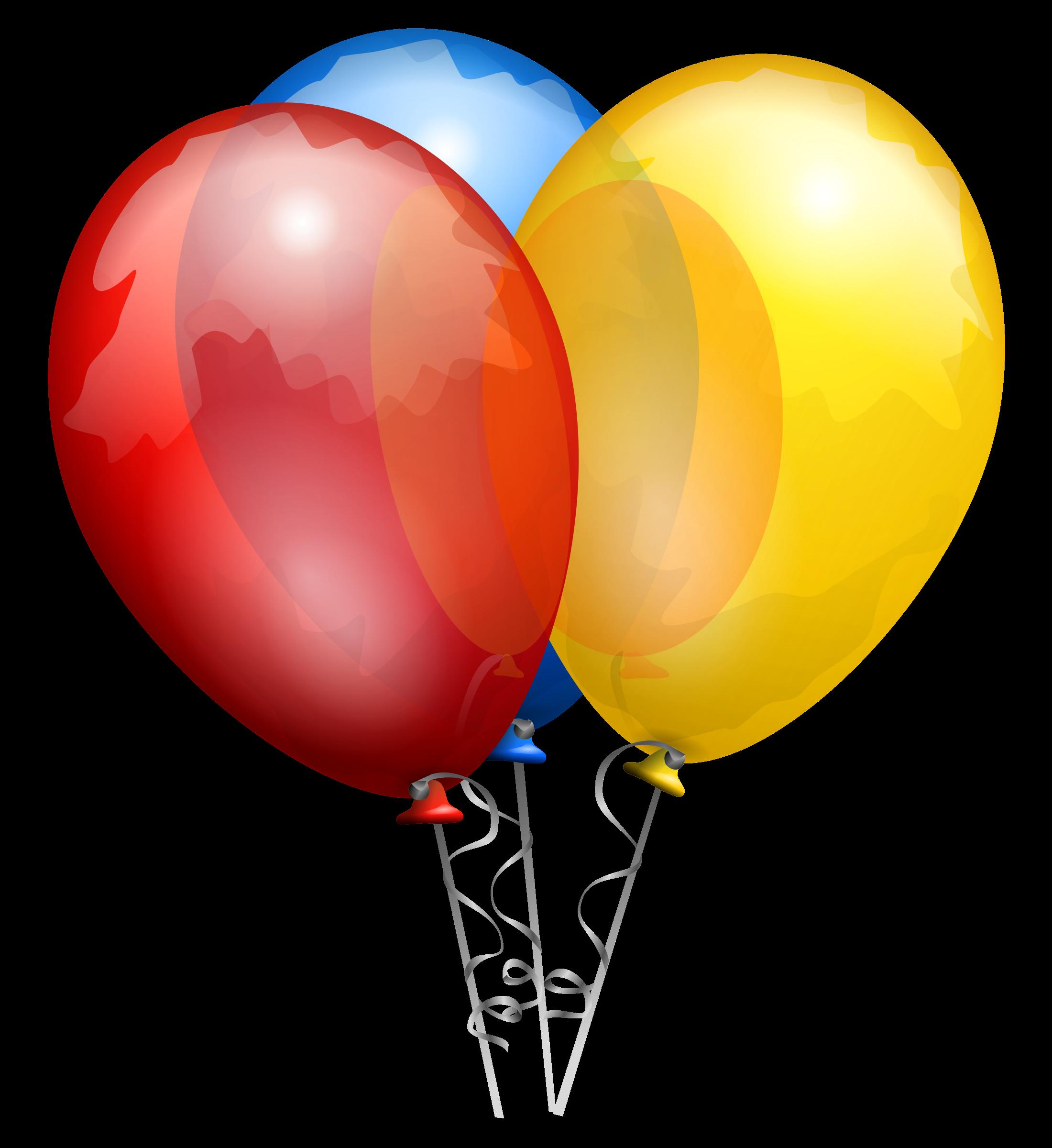 Party balloons big image. Celebration clipart balloon