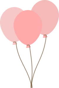 Balloons clip art vector. Clipart balloon pink