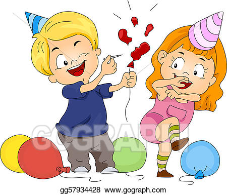 Drawing birthday balloon gg. Pop clipart