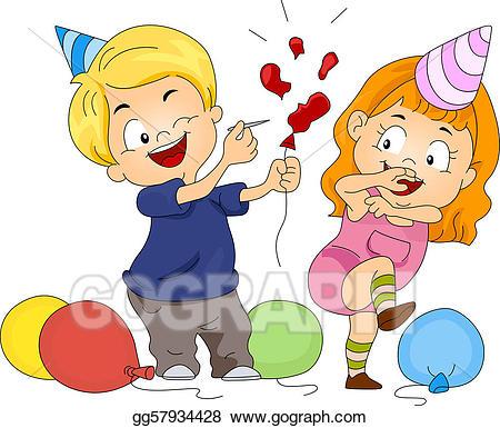 Pop clipart. Drawing birthday balloon gg