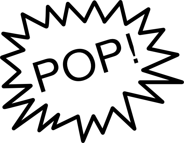 . Pop clipart cartoon balloon