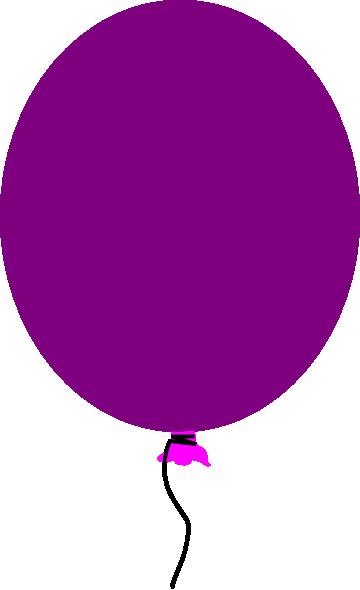 Ballon clipart purple. Balloon clip art at