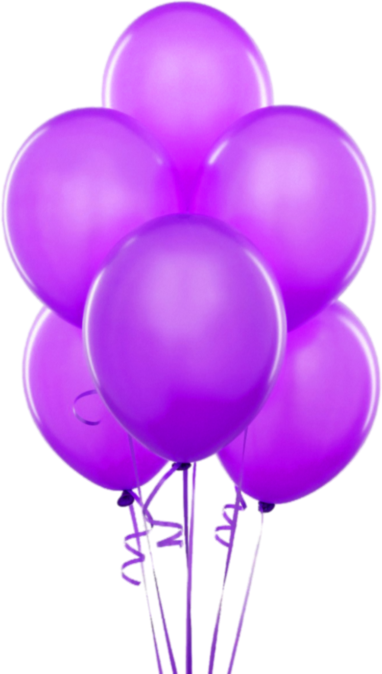 Purple Transparent Balloons Clipart