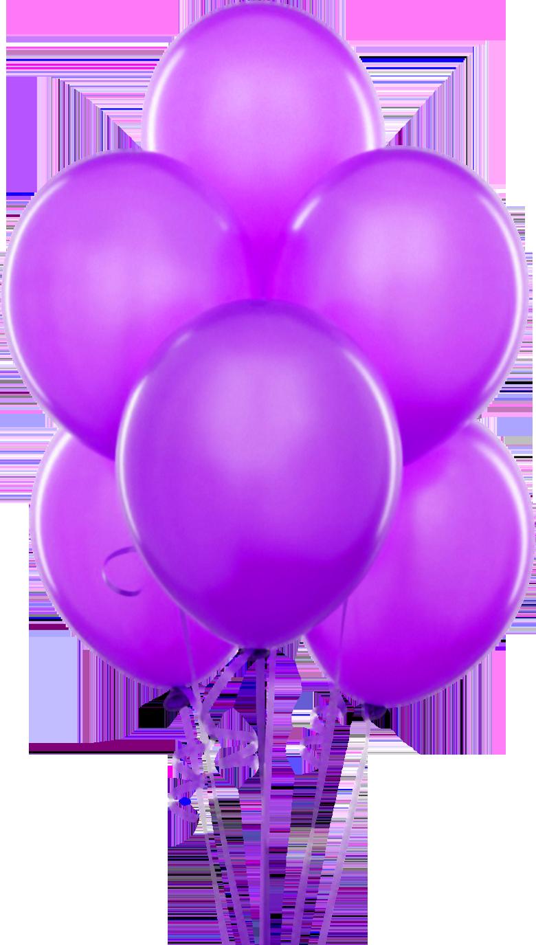 Purple transparent balloons art. Clipart rose birthday