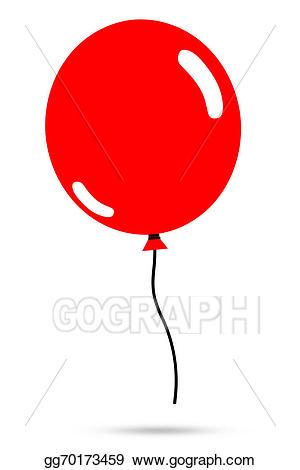 Stock illustration of balloon. Ballon clipart red
