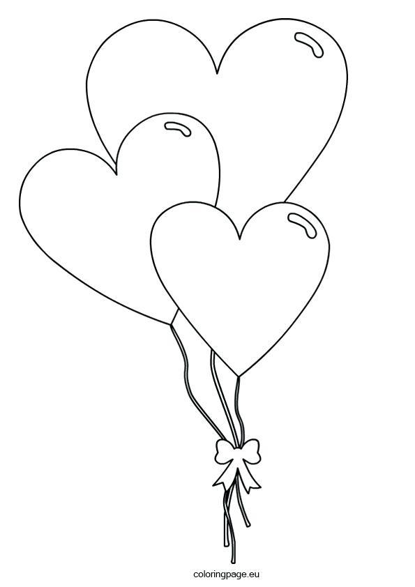 Ballon clipart shape. Heart drawing at getdrawings