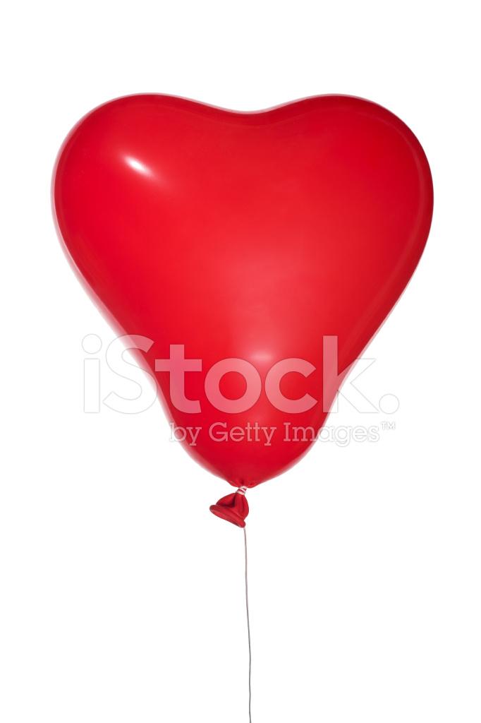 Single red balloon vector. Ballon clipart shape