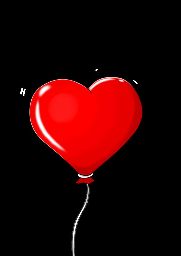 Ballon clipart shape. Heart shaped balloon by