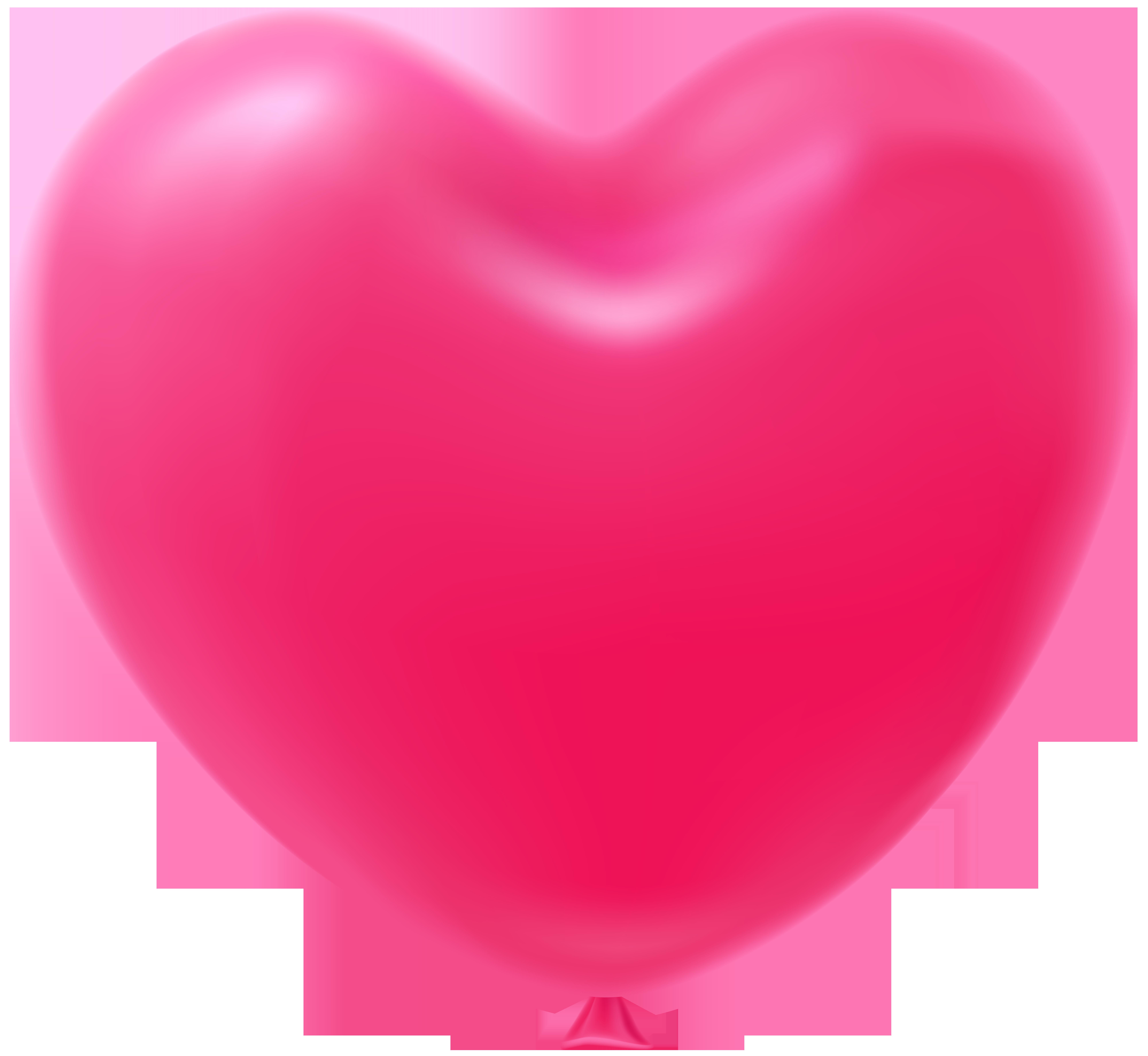 Clipart balloon shape. Heart pink transparent clip