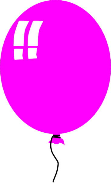 Pink free images at. Balloon clipart single